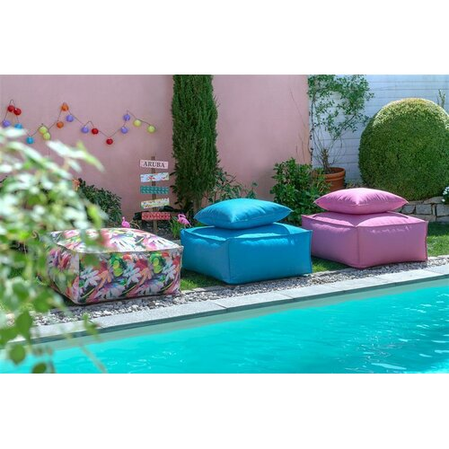 H.O.C.K. Caribe Indoor/Outdoor Lounger 90x90x40cm pink