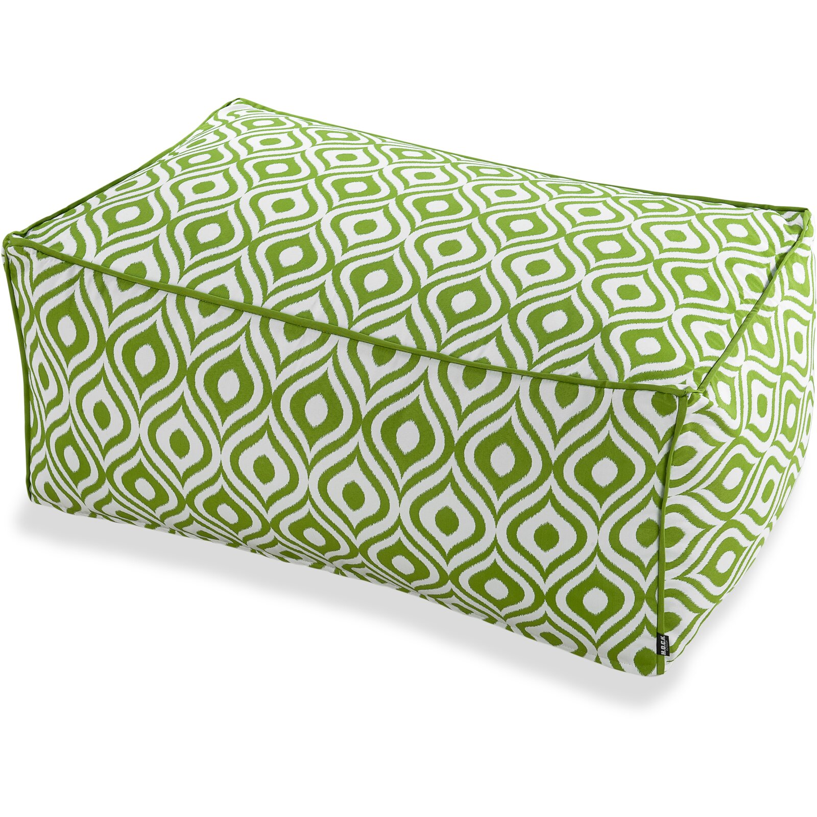 H.O.C.K. Pinamar Outdoor Loungehocker 90x60x40cm green 021 sun