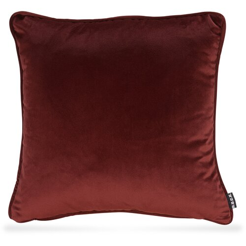 H.O.C.K. Nobile Samt Kissen 50x50cm indian-red 090 bordeaux rot