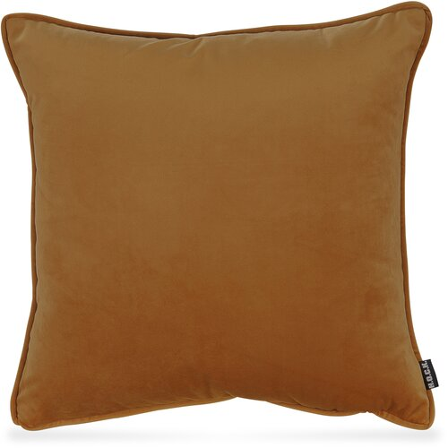 H.O.C.K. Nobile Samt Kissen 50x50cm honey-orange 105 terra orange