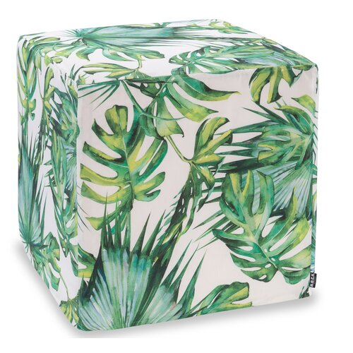H.O.C.K. Beach Life Outdoor Hocker eckig 45x45x45cm Palm Garden