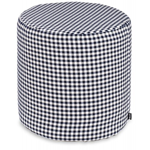 H.O.C.K. Karo Mix Hocker ø45x45cm Gouble blau