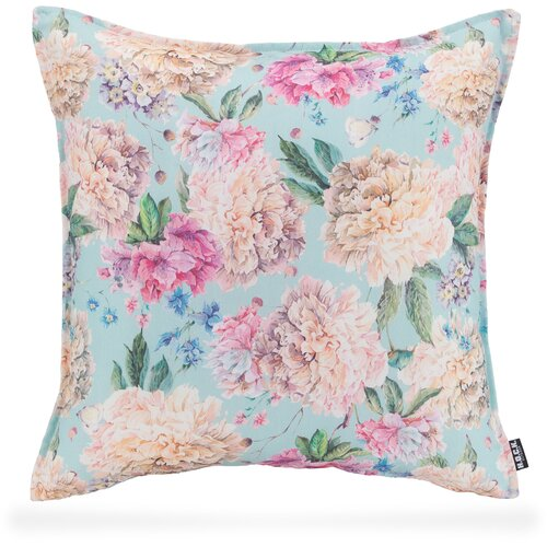 H.O.C.K. Shabby Outdoor Kissen baby blue floral 50x50cm