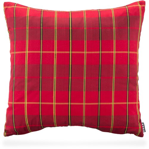 H.O.C.K. PURE SILK Wendekissen Karo 45x45cm checkered-red