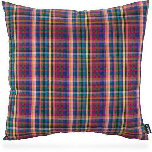 H.O.C.K. PURE SILK Kissen Karo 45x45cm checkered-colored