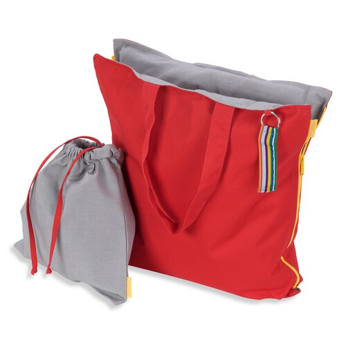 Hhooboz Pillowbag M red-grey