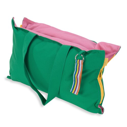 Hhooboz Pillowbag S emerald-green-pink
