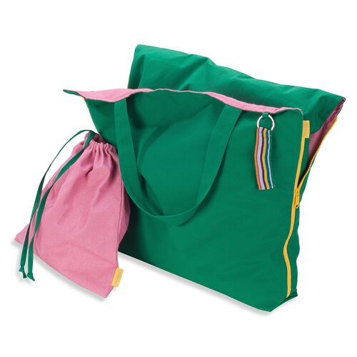 Hhooboz Pillowbag L emerald-green-pink