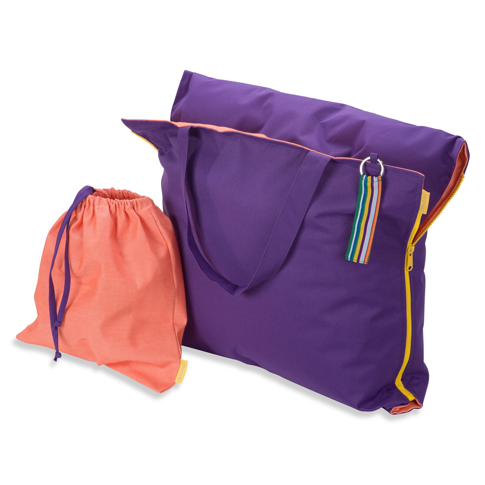 Hhooboz Pillowbag L lila-orange