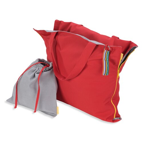 Hhooboz Pillowbag L red-grey